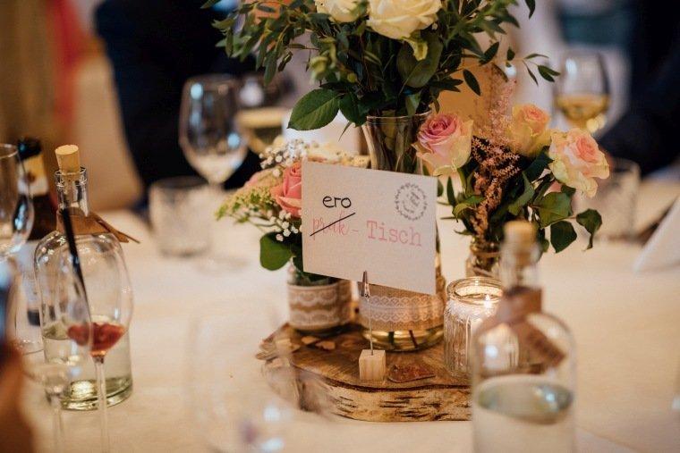 Hochzeitsfotos-Landgut-Schloss-Michelfeld-Hochzeitsreportage-Angelbachtal-024-Vintage-Tischdeko-Tischschild
