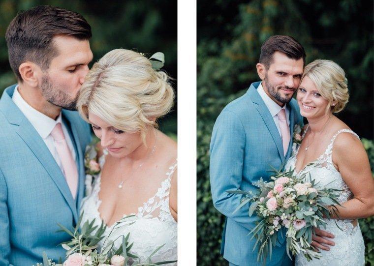 Hochzeitsfotos-Landgut-Schloss-Michelfeld-Hochzeitsreportage-Angelbachtal-035-Brautpaar-Tattoospitze-hellblauer-Anzug