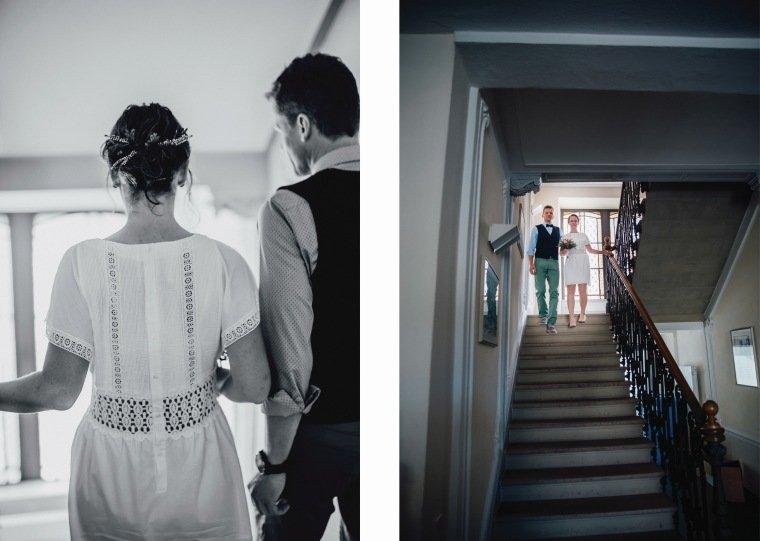 Hochzeitsfotos-Odenwald-Hochzeitsreportage-018-Brautpaar-Standesamt-Treppe