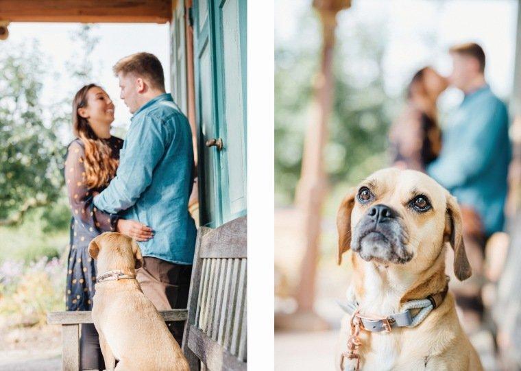 Paarfotos-Verlobung-Engangement-Shooting-Heilbronn-Botanischer-Garten-001-Hund