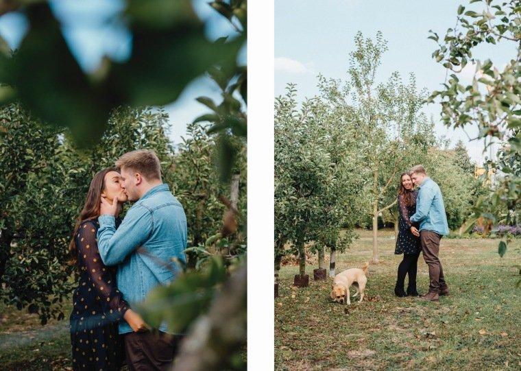 Paarfotos-Verlobung-Engangement-Shooting-Heilbronn-Botanischer-Garten-024-Kuss-Liebe-Hund