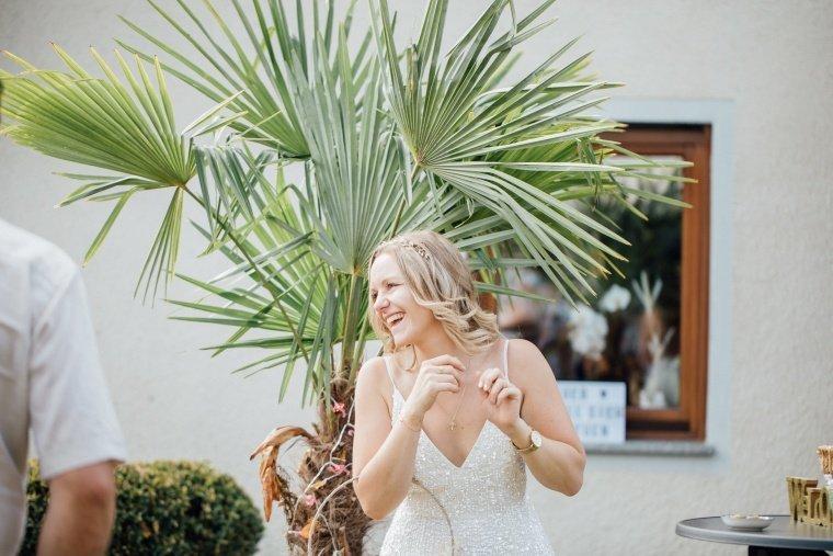 Boho-Braut-Gartenhochzeit
