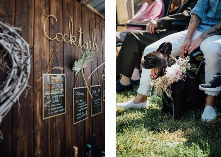 Boho-Gartenhochzeit-Details-Hochzeitshund