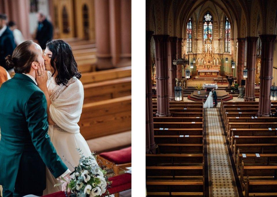 Brautpaar Kirche Otterstadt Trauung