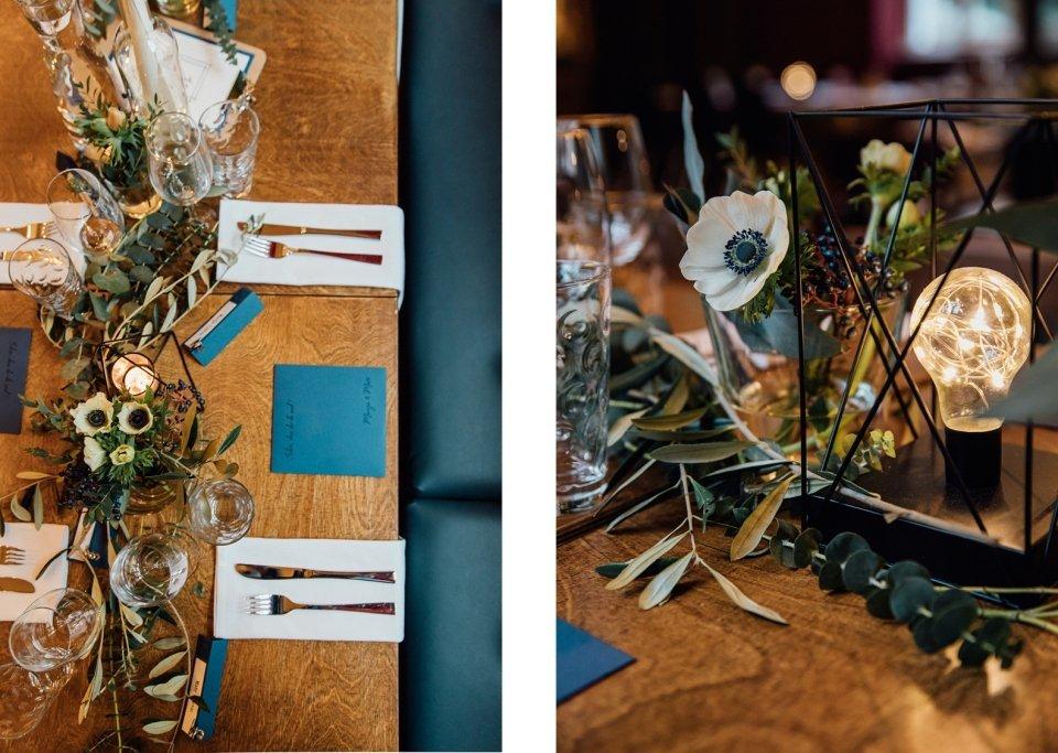 Hochzeitslocation Philipp eins Speyer mit Tischdekoration