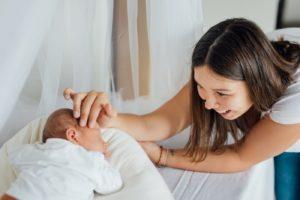 Babyfotos-Mama mit Baby