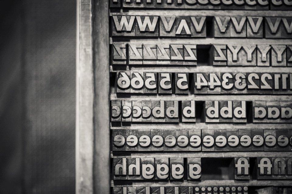 Schriftsatz Letterpress