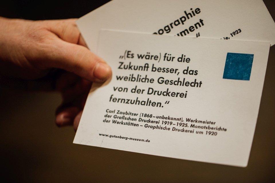 Aufnahme Druckladen Gutenbergmuseum