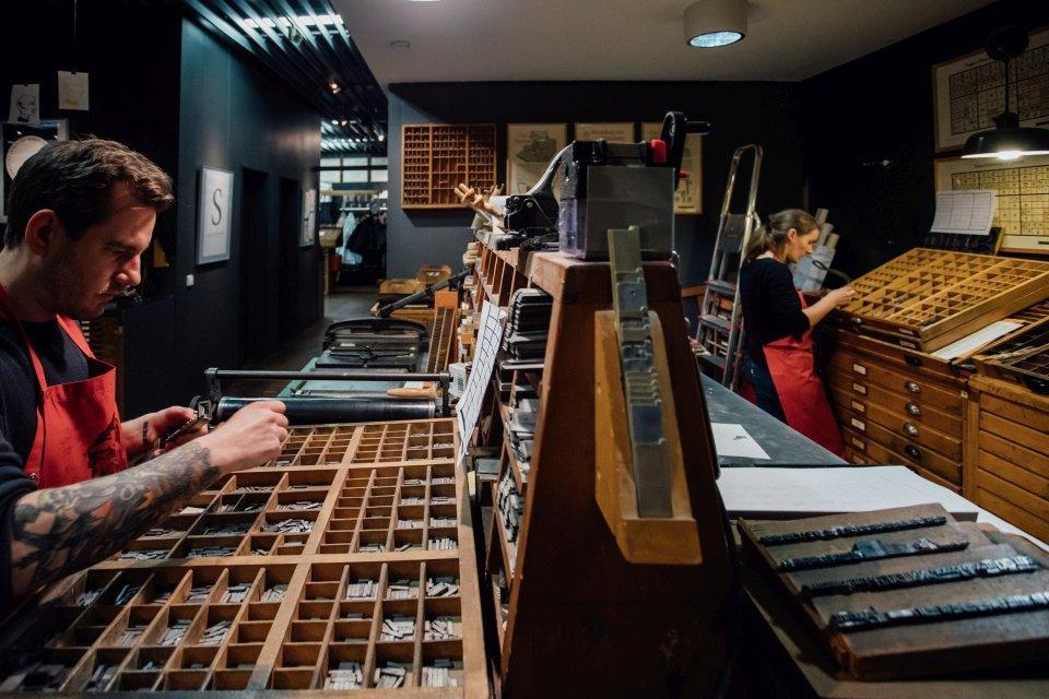 Paarfotos im Druckladen im Gutenbergmuseum