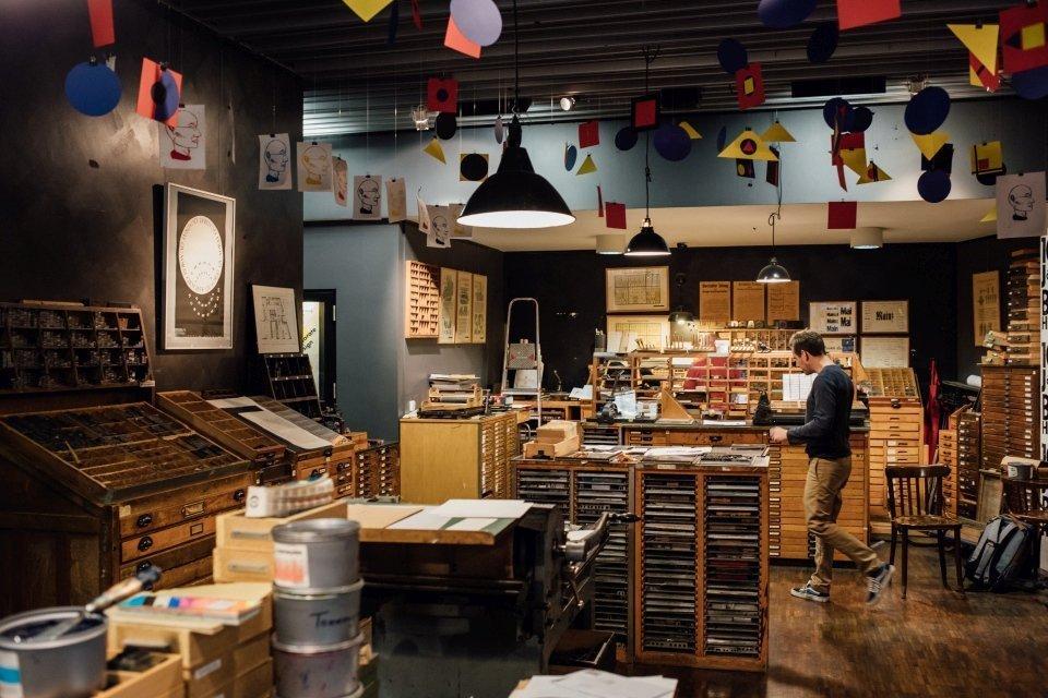 Fotos im Druckladen im Gutenbergmuseum