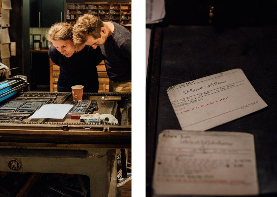 Paarfotos im Gutenbergmuseum Druckladen Mainz