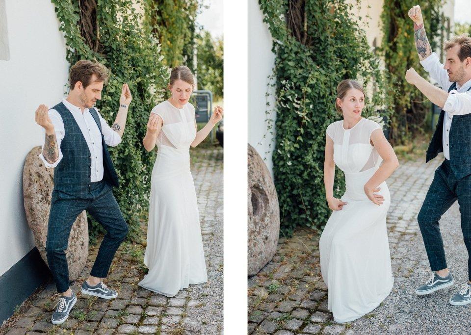 ausgefallenes Paarshooting an Hochzeit